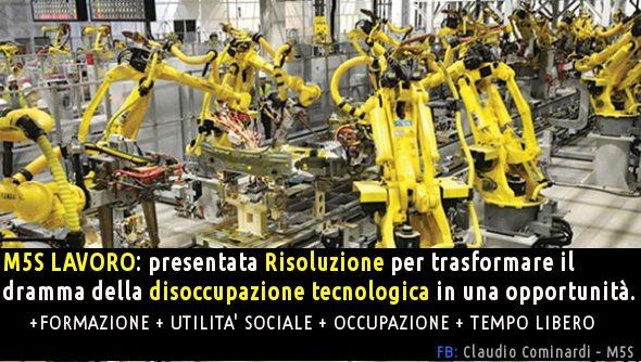 Disoccupazione tecnologica: un'epocale opportunità!