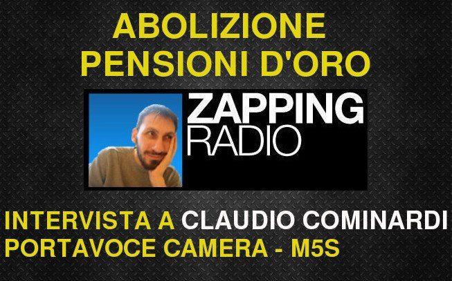 Abolizione pensioni d'oro: l'intervento su Radio1
