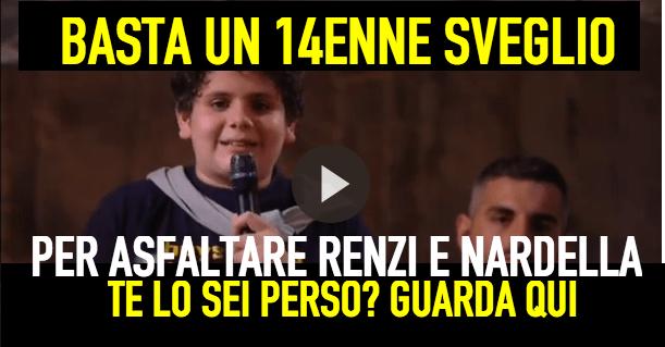 Il 14enne Marco Colarossi asfalta il Sindaco di Firenze Dario Nardella.