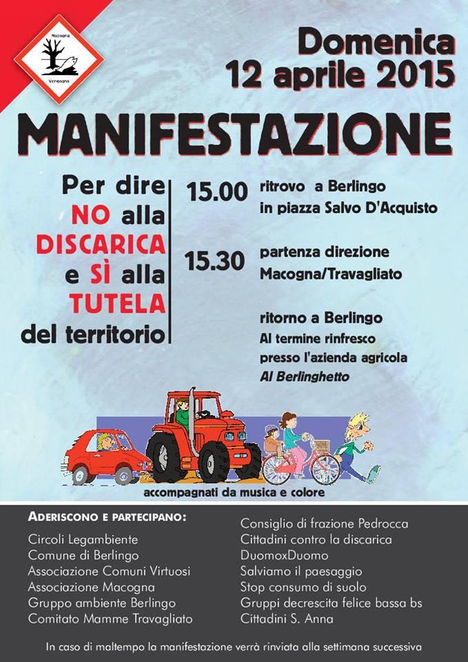 Sosteniamo il comitato: NO alla discarica della Macogna!