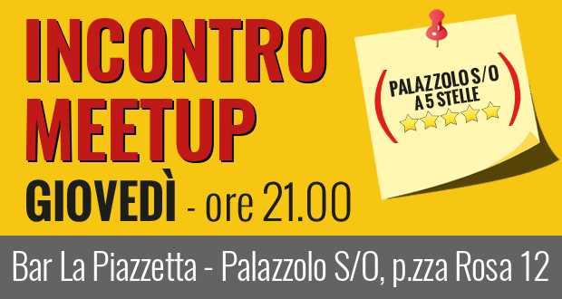 Stasera venite a Palazzolo per l'incontro del Meetup!
