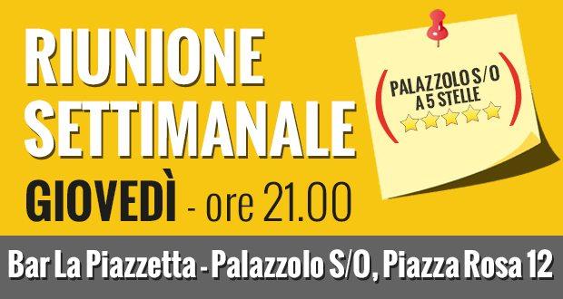 Incontri settimanali: ci si vede stasera a Palazzolo!