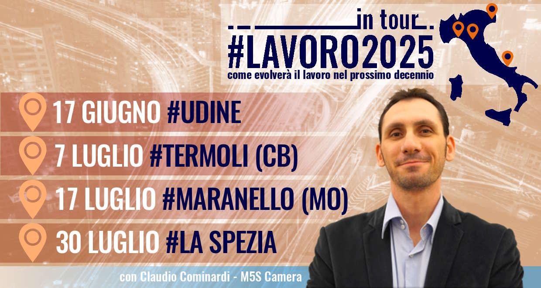 #Lavoro2025Tour: quattro nuove tappe, si riparte da Udine