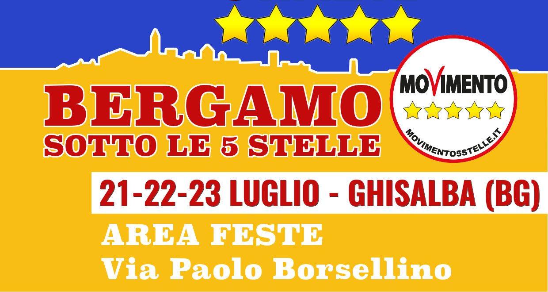 """Pronti per """"Bergamo sotto le 5 stelle""""? Ci vediamo venerdì 21 luglio"""