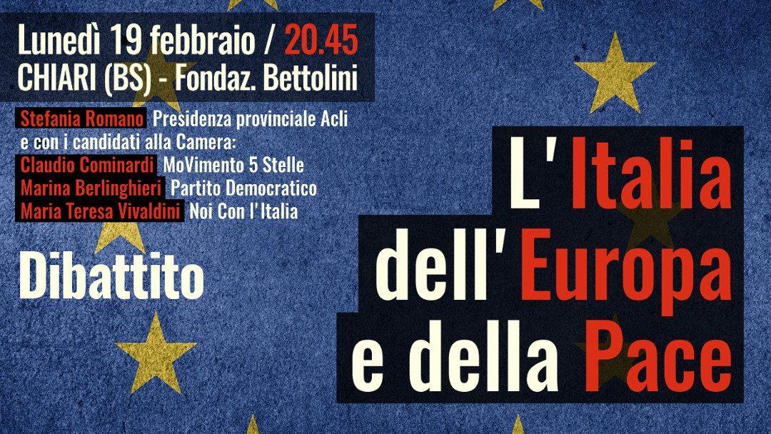 Italia, Europa, Pace: alle Acli di Chiari un confronto elettorale