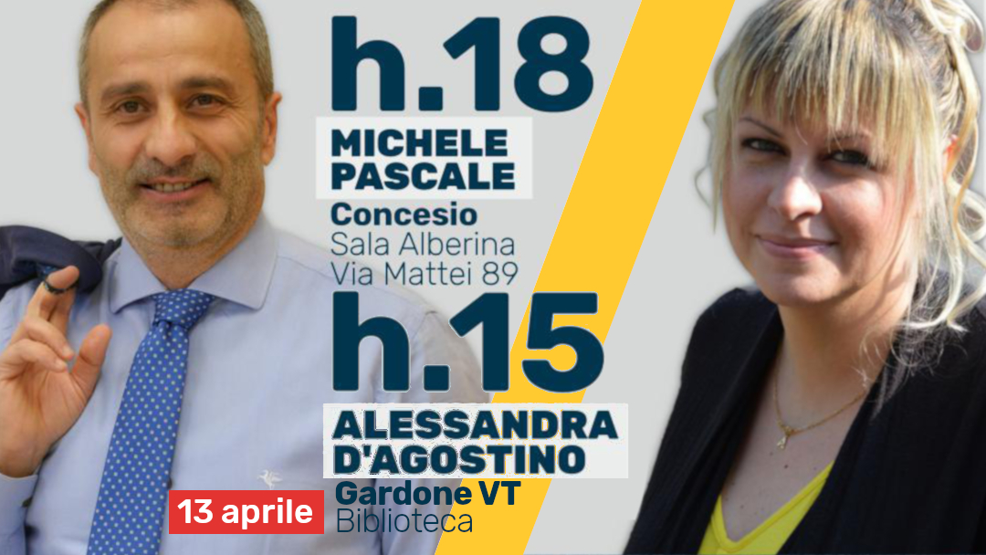 12-13 aprile traguardi, obiettivi e candidati del M5S si presentano a te!