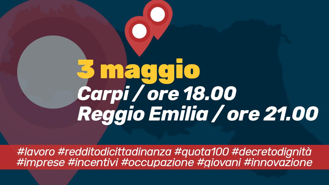 Lavoro e imprese: in Emilia due eventi per presentare l'azione del Governo