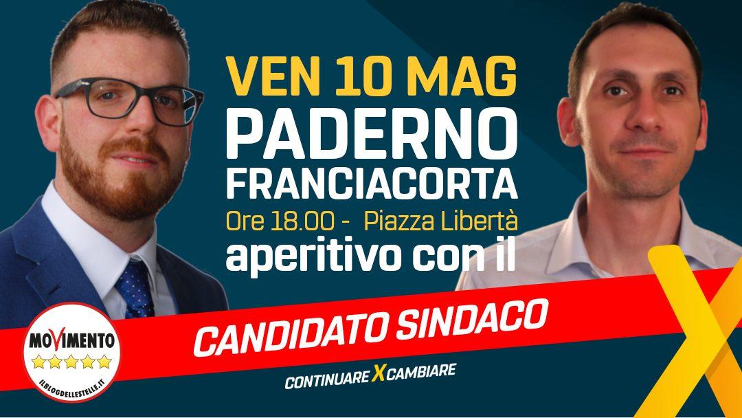 10 MAGGIO aperitivo con il candidato sindaco di Paderno Franciacorta!