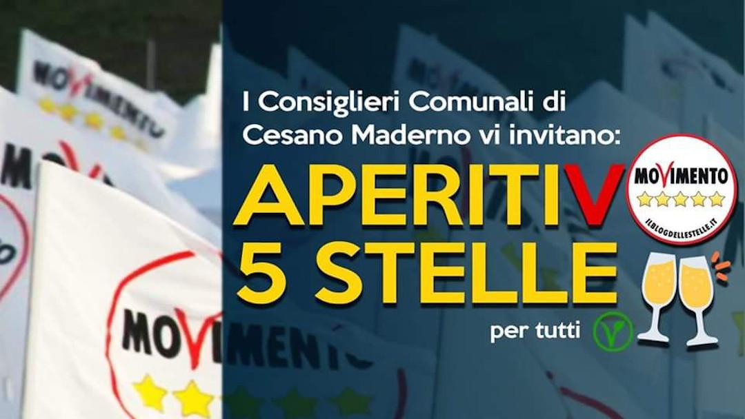 Venerdì 8 novembre, aperitivo 5 stelle a Cesano Maderno!