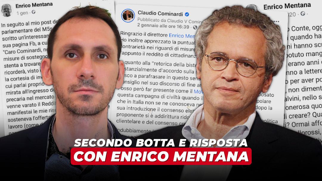 RdC: nuovo botta e risposta con Enrico Mentana
