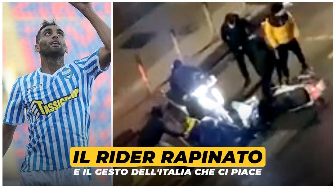 Il rider rapinato e il gesto dell'Italia che ci piace