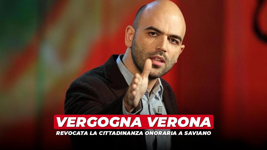 Vergogna Verona: revocata la cittadinanza onoraria a Saviano