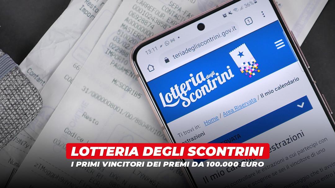 Lotteria degli scontrini: i primi 10 vincitori dei premi da 100mila euro