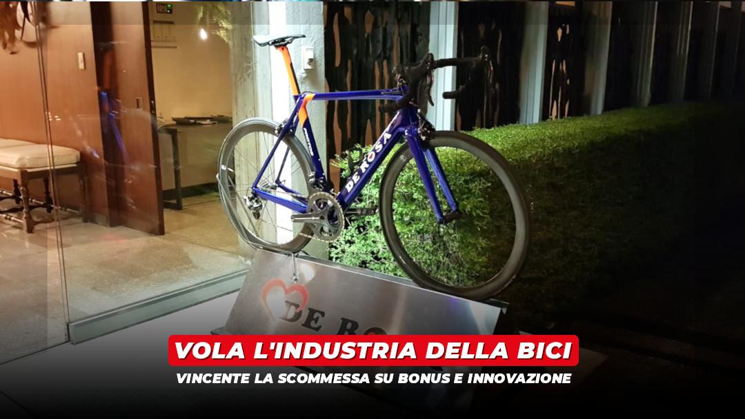 Vola l'industria delle biciclette: vincente la scommessa su bonus e innovazione