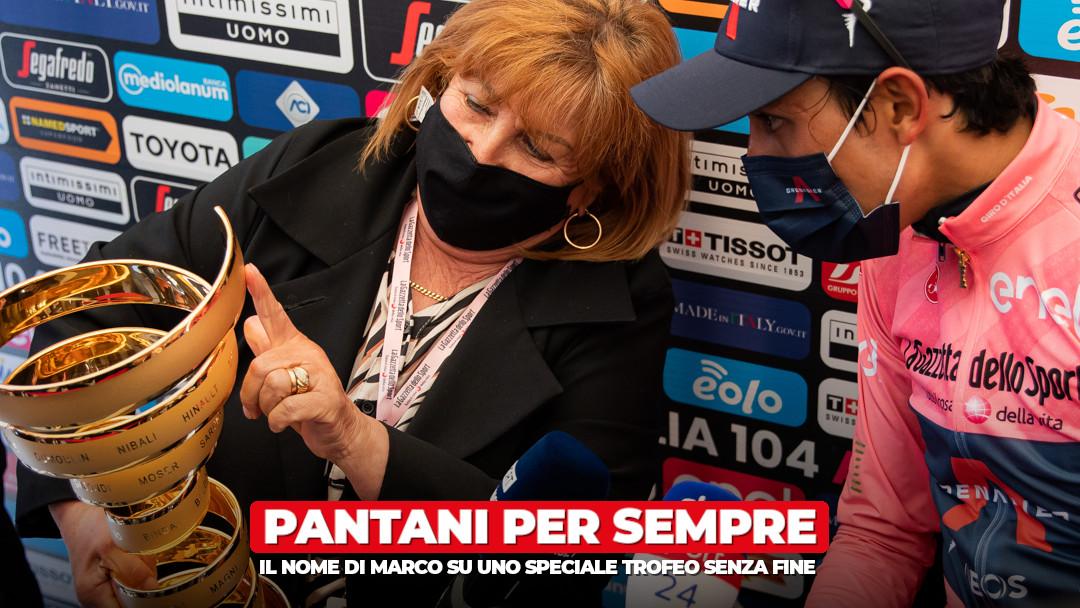 """Il nome di Marco Pantani sul """"Trofeo senza fine"""""""