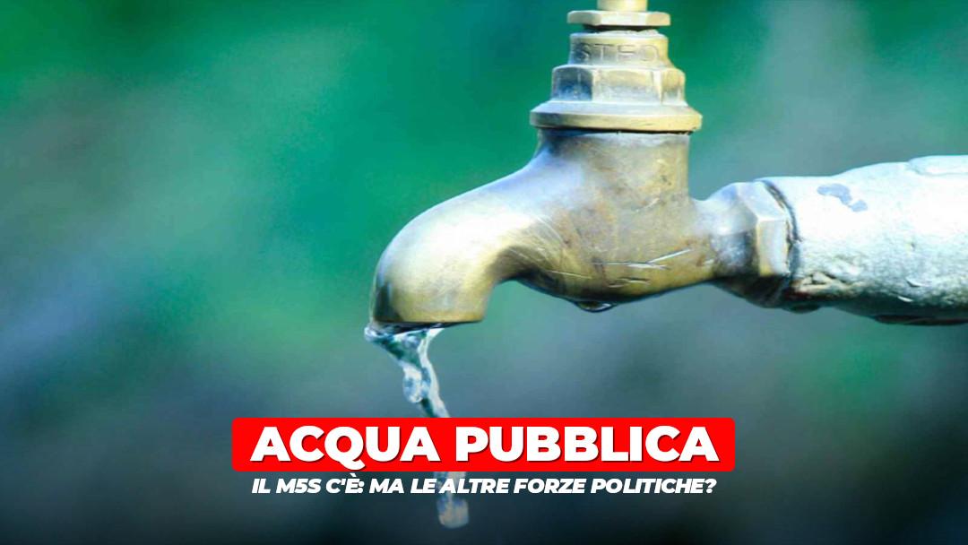 Acqua pubblica: il M5S c'è, ma da solo non basta