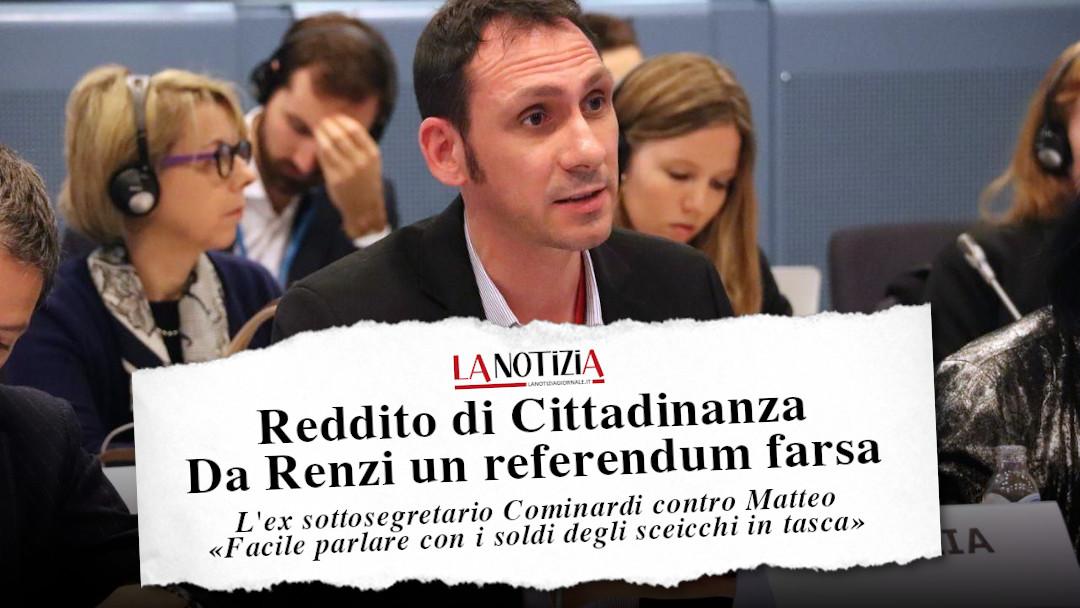 Reddito di Cittadinanza, da Renzi un referendum farsa: la mia intervista a La Notizia