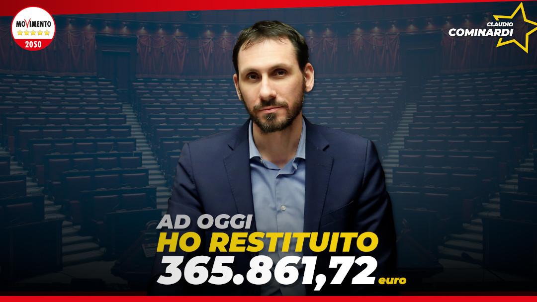 Le mie restituzioni: a luglio superati i 365 mila euro