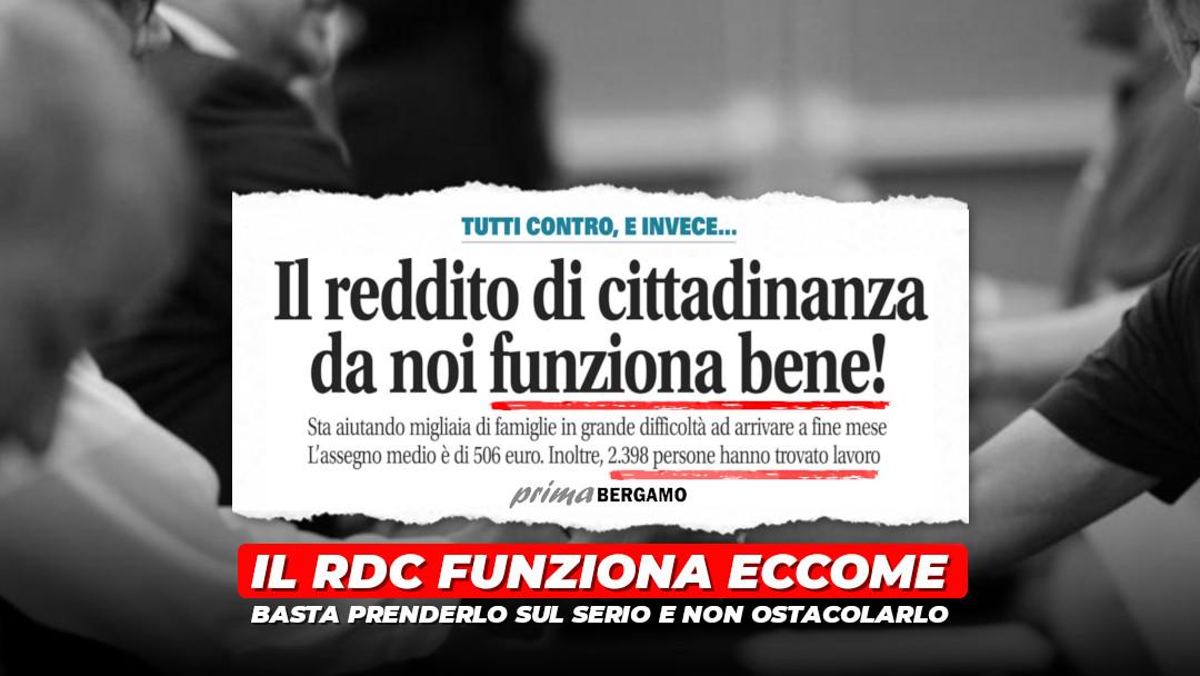 Il RdC funziona eccome: basta non ostacolarlo